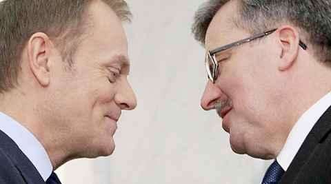 Premierminister Donald Tusk und Präsident Bronisław Komorowski