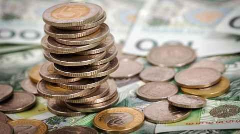 Münzen und Geldscheine Zloty