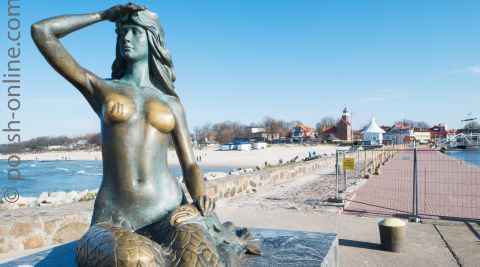 Meerjungfrau auf der Mole Stolpmünde (Ustka)