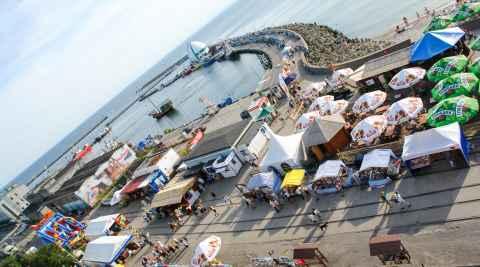 Hafen mit Mole von Hela (Hel)