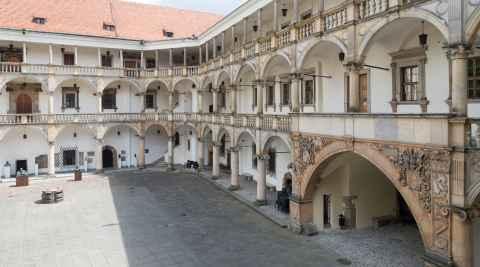 Arkaden im Piastenschloss in Brieg (Brzeg)