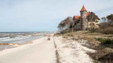 Hotel Neptum am Ostseestrand von Leba in Polen