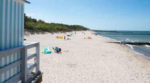 Strand Ostseebad Ustronie Morskie in Polen