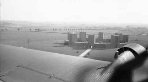 Das Tannenberg-Denkmal aus der Luft fotografiert