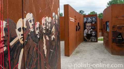 Freilichtausstellung Mut und Versöhnung in Kreisau, Niederschlesien