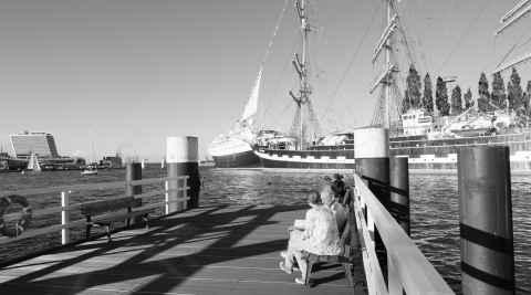 Segelschiff Krusenstern im Kieler Hafen