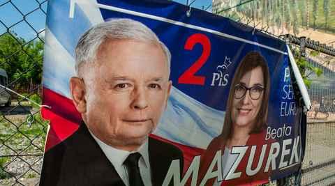Wahlplakat der PiS zur Europawahl 2019