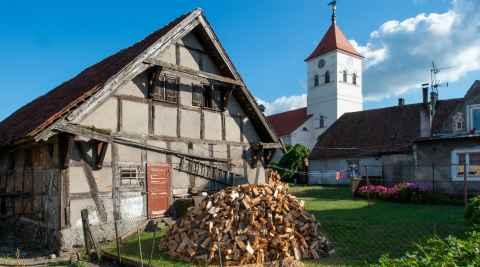 Klassizistische Kirche in Willenberg (Wielbark)