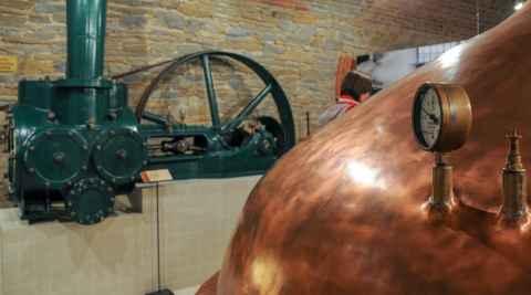 Alter Kupferkessel im Brauereimuseum