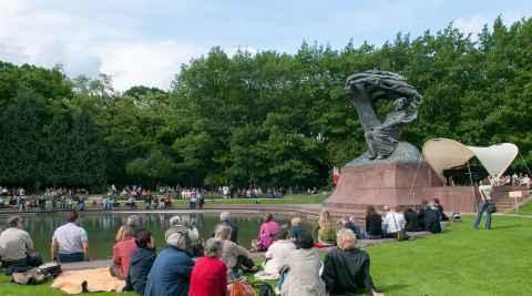 Chopin-Denkmal im Łazenki Park
